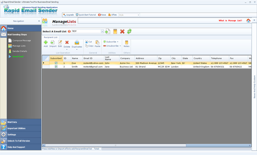 Rapid Email Sender 10.30