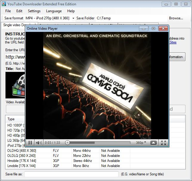 YouTube Downloader Extended 1.0 Standard