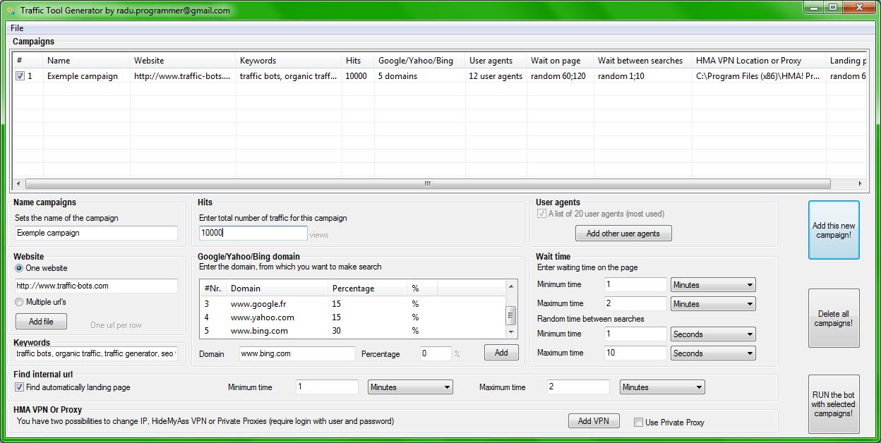 Traffic Tool Generator 11.0