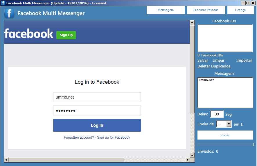 Facebook Multi Messenger 2016 2.0