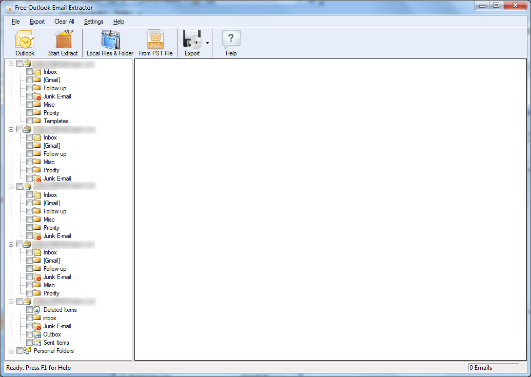 RA Outlook Email Extractor 1.2