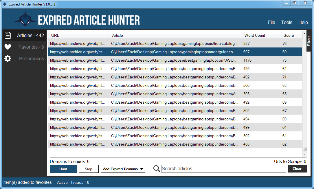 Expired Article Hunter 2.0.4.0