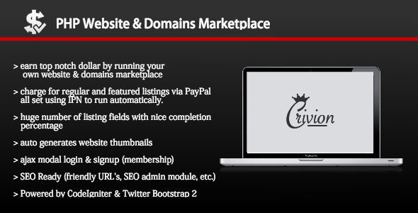 PHP Website and Domains Marketplace v1.5