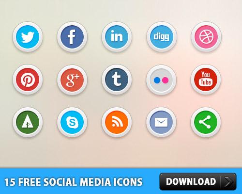 15 Free Social Media Icons L