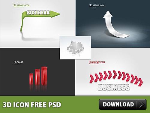 3d Icon Free PSD L