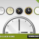 5 Free PSD Clock Icons