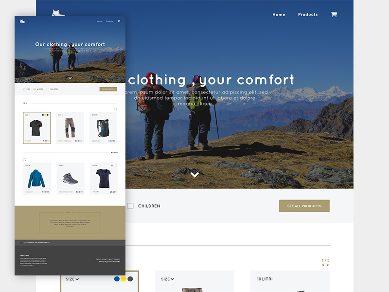 Adventure Store Website Template PSD