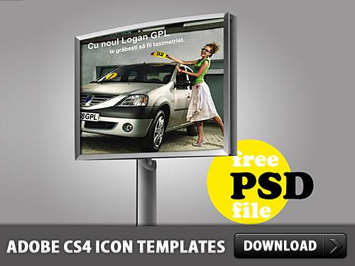 Advertising Billboard PSD L