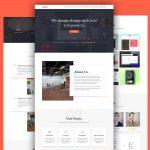Agency Portfolio Website Template Free PSD