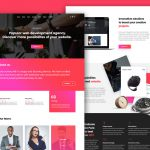 Agency Services Landing Page Template Free PSD