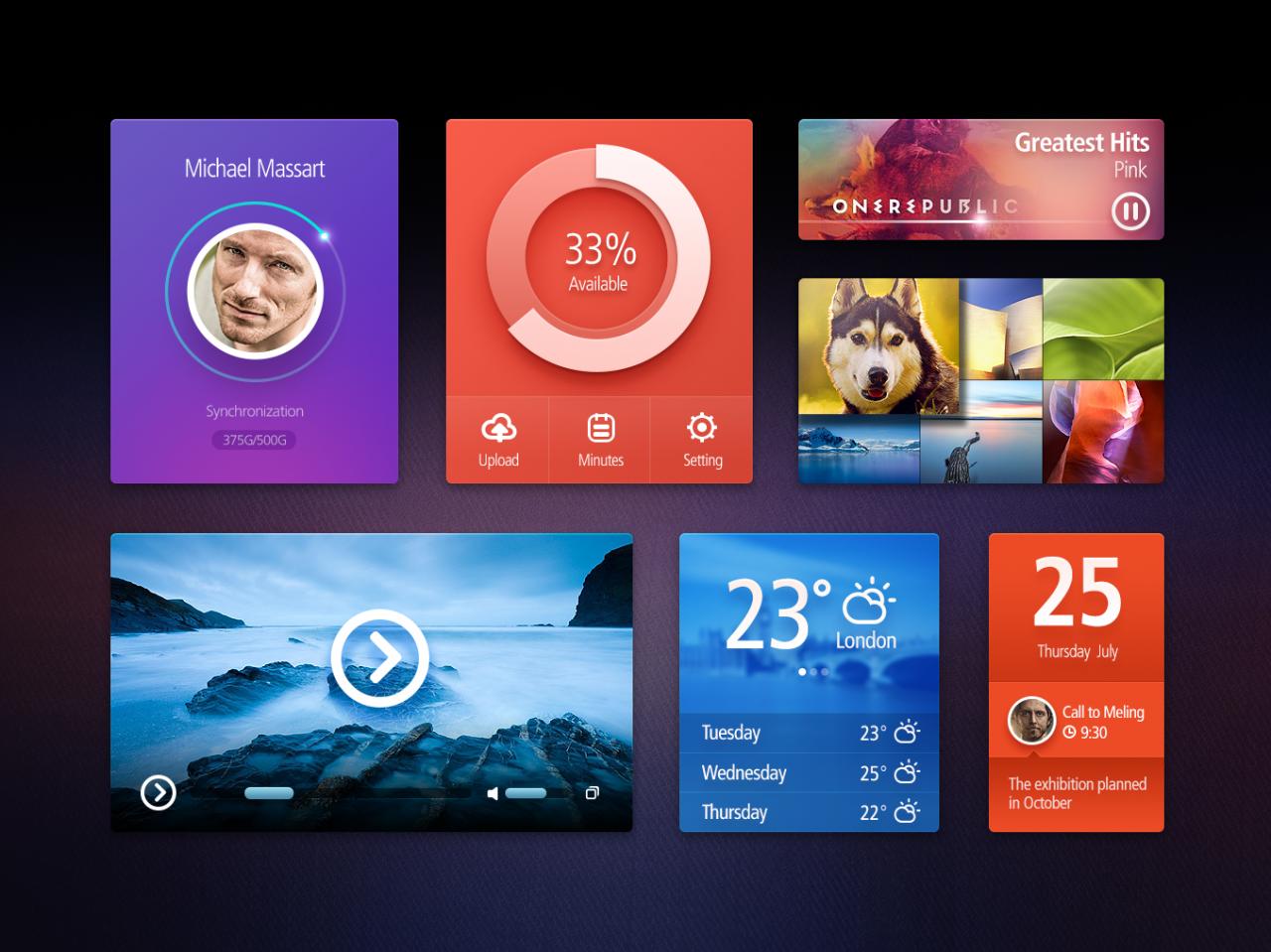 Amazing User Interface Kit PSD