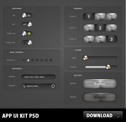 App UI Kit PSD L