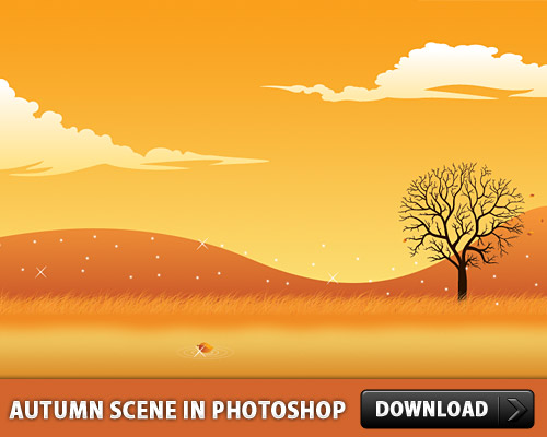 Autumn Scene In Photoshop L