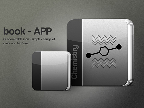 Book App Icon PSD L
