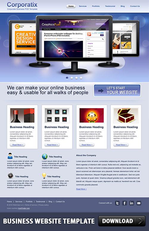 Business Website PSD Template L