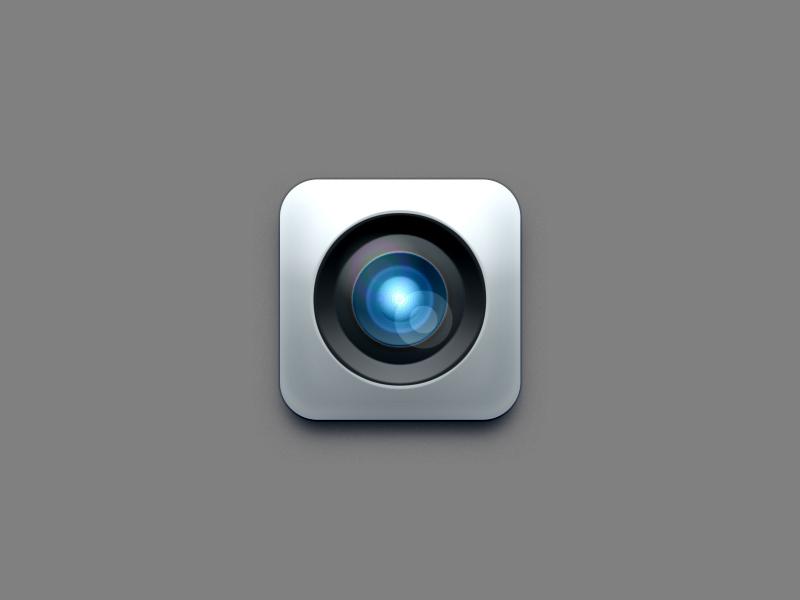 Camera Lens Icon Design PSD
