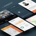 Charts Graphs UI Design Kit Free PSD