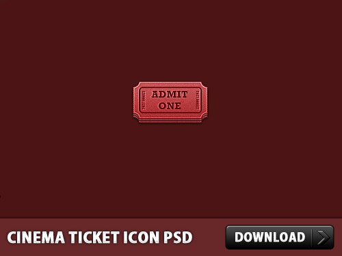 Cinema Ticket Icon PSD L