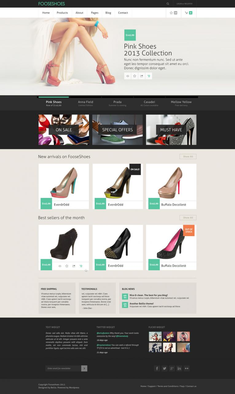 Classy ECommerce PSD Website Template
