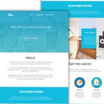 Clean Corporate Blue Single Page Template PSD