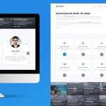 Clean Multipurpose Website Template PSD