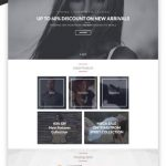 Clean One Page Fashion Website Free PSD Template