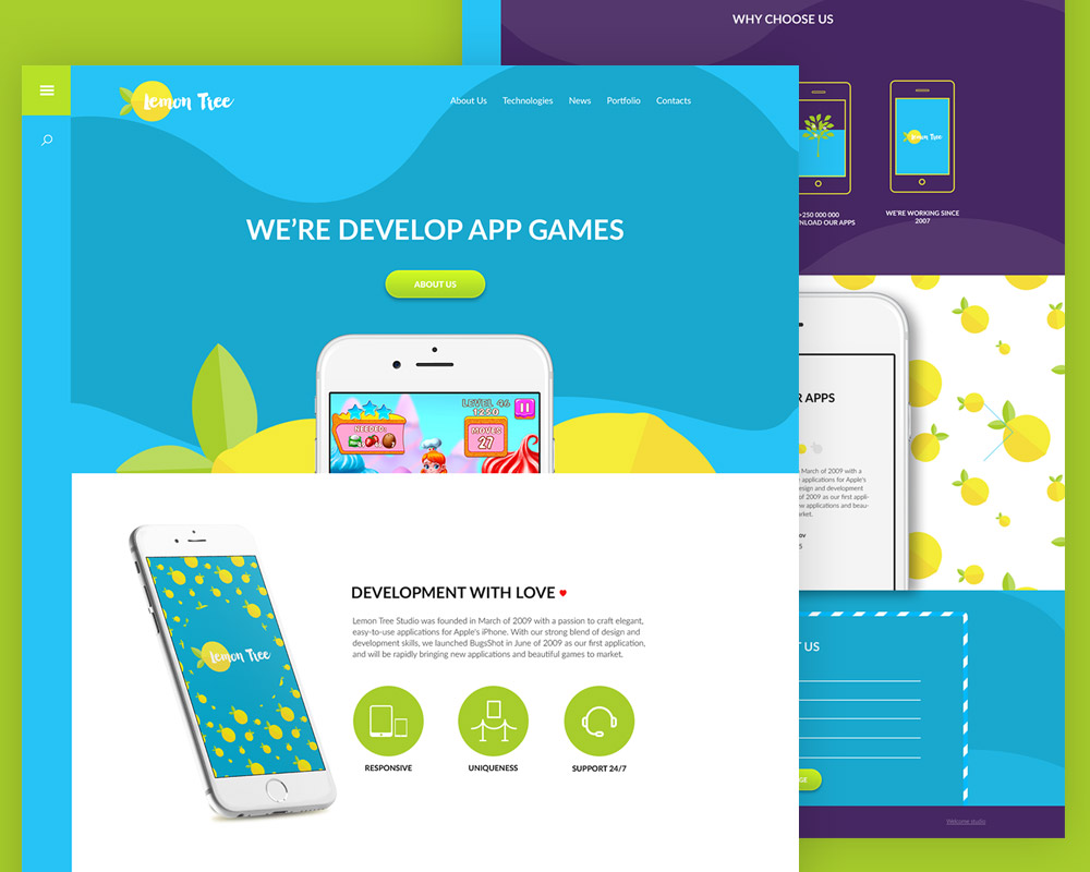 Colorful App website Template Free PSD – Free Cracked Nulled Seo ...