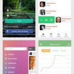 Colorful iOS 8 Mobile UI Kit Free PSD