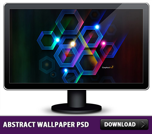 Cool Abstract Wallpaper PSD L