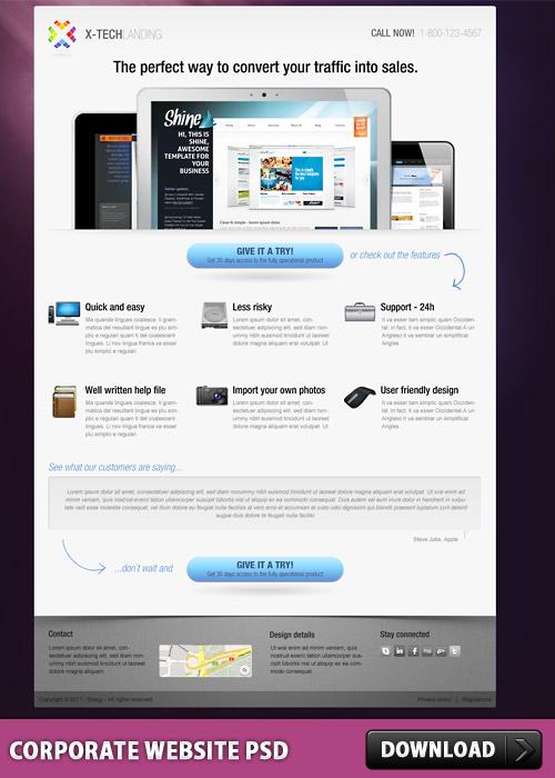 Corporate Website PSD L