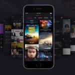 Dark iOS Movie App UI Kit Free PSD