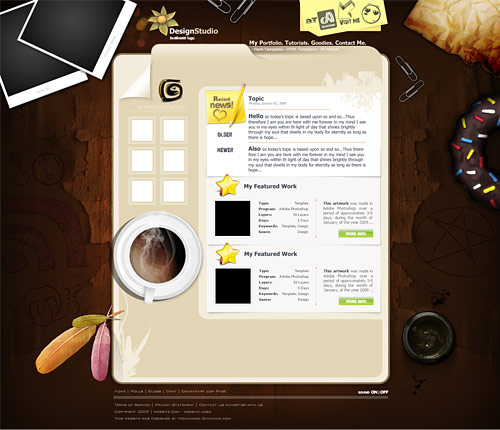 Design Studio Template PSD L
