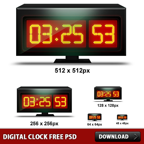 Digital Clock Free PSD L