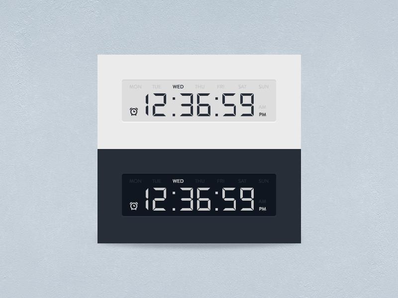 Digital Clock Timer UI Free PSD