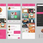 Dribbble Mobile App UI Kit Free PSD
