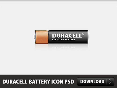 Duracell Battery Icon PSD L