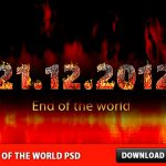 End of the World Free PSD file – 21.12.2012