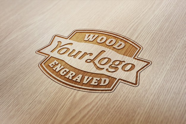 Engraved Wood Effect PSD