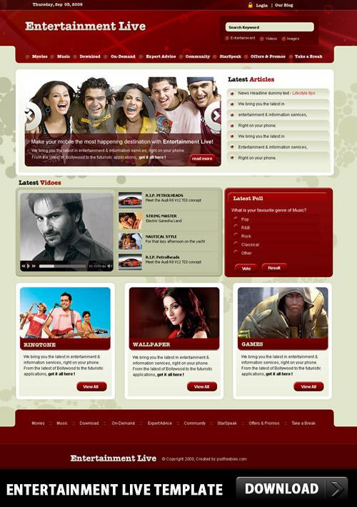 Entertainment Live Template PSD L