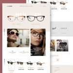 Eyewear Sunglasses Store Website Template Free PSD