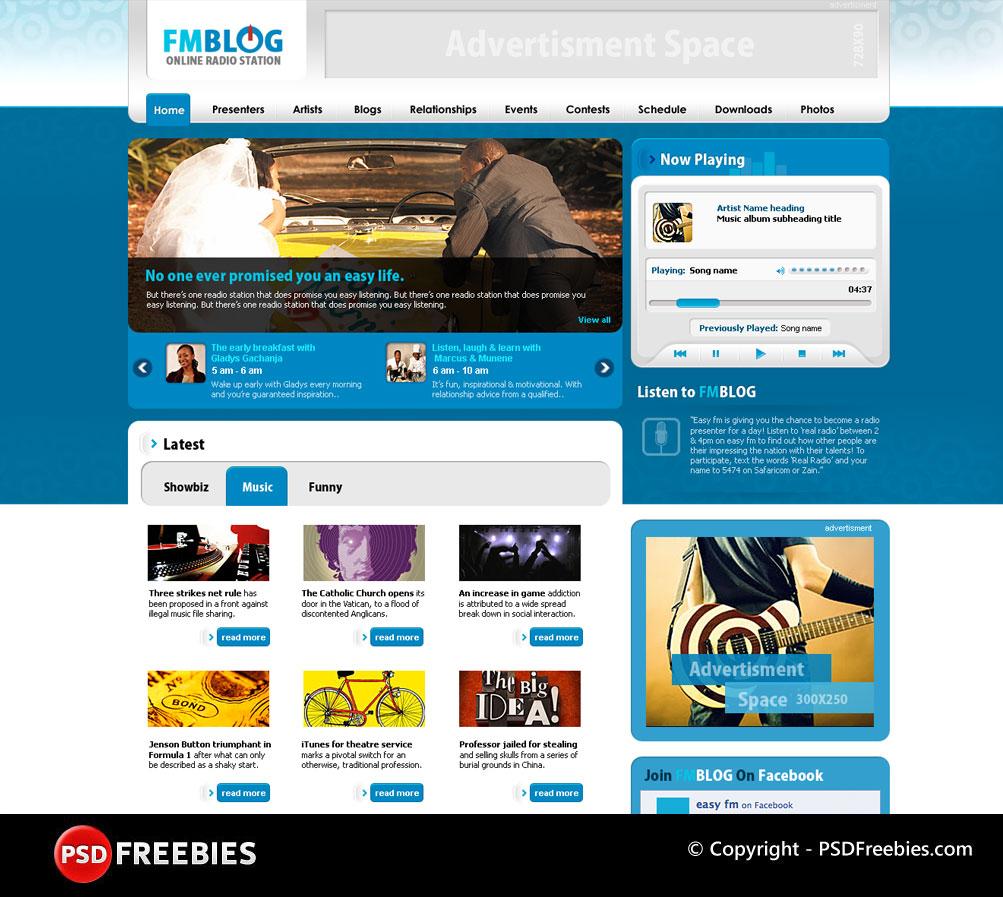 FM Blog PSD Template