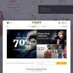 Fashion eCommerce Store Website Templates PSD