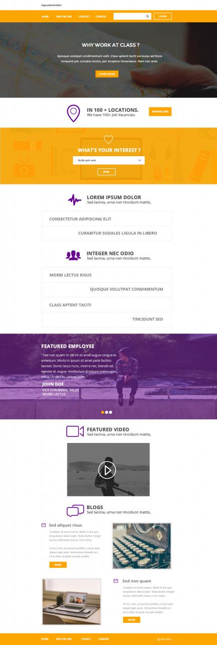 Flat Clean Corporate Layout PSD Template