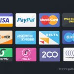 Flat Credit Card Icons Set PSD