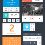 Colorful Flat Metro UI Elements Kit PSD