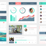 Flat Metro Web UI Elements Kit PSD