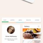 Flat Pastel Web UI Elements PSD Kit