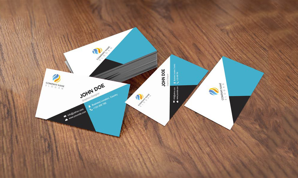 Flat Style Business Card Template Design Free Psd Free Cracked