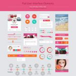 Flat User Interface Free PSD