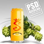 Free Beer Can PSD